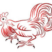 Rooster - Sign Of Chinese New Year Art Print