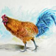 Rooster Watercolor Art Print