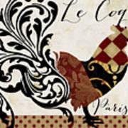 Roosters Of Paris II Art Print