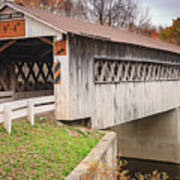 Root Rd Covered Bridge  Art Print