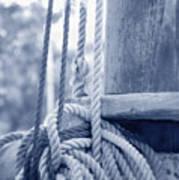 Rope And Mast Art Print