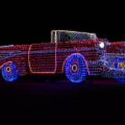Rope Light Art 1957 Chevy Art Print