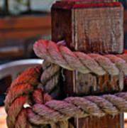 Rope On Wood Art Print