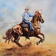 Roping Action Art Print
