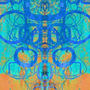 Rorschach Test Art Orange Art Print