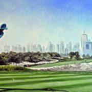 Rory At Ddc Emirates Gc Dubai 8th 2014  Art Print