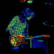 Saturated Blues Rock Art Print