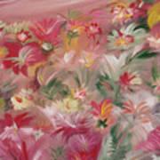 Rosa Bluetenmeer Art Print