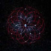 Rosace - Rose Nebula Art Print