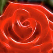 Rose-5845-fractal Art Print