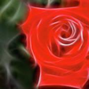 Rose-5890-fractal Art Print