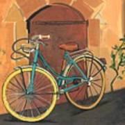 Rose And Bicycle Art Print