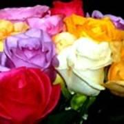 Rose Bouquet Painting Art Print