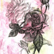 Rose Bud Pink Art Print