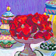 Rose Covered Cake Art Print