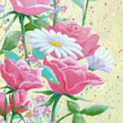 Rose Diptych 1 Art Print