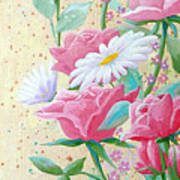 Rose Diptych 2  Art Print