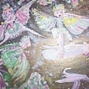 Rose Fairies Art Print