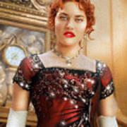 Rose From Titanic Art Print