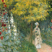 Rose Garden Art Print by Claude Monet