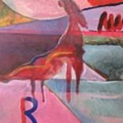 Rose Horse Art Print