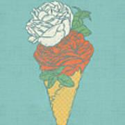 Rose Ice Cream Art Print