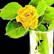 Rose In Vase Art Print
