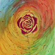 Rose In Vorteks Art Print
