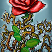 Rose N Thorns Art Print