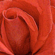 Rose-paintdaubs-2 Art Print