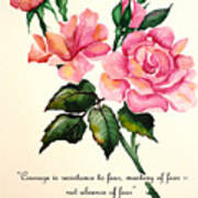 Rose Poem Art Print