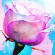 Rose Soft Pink Silked In Thick Paint Art Print