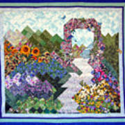 Rose Trellis Garden Print by Sarah Hornsby