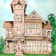 Rose Victorian Inn - Arroyo Grande Ca 1886 Art Print