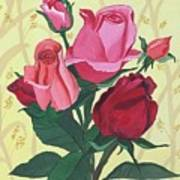 Rose With Roses Art Print