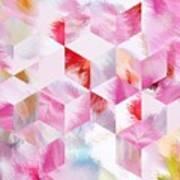 Roselique Cubes Art Print