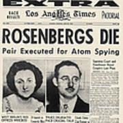 Rosenberg Execution, 1953 Art Print