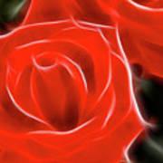 Roses-5814-fractal Art Print