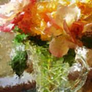 Roses And Crystal Art Print