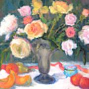Roses And Fruit Art Print