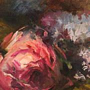 Roses And Lilacs Art Print