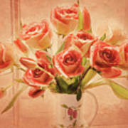 Roses And Tulips Art Print