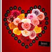 Roses For My Dear Love Art Print