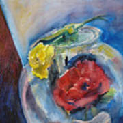 Roses In A Fish Bowl Art Print