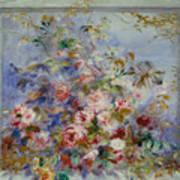 Roses In A Window Art Print