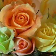 Roses In Pastel Art Print