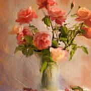 Roses La Belle Art Print