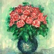 Roses Oil Painting  Art Print