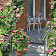 Roses On High St Art Print