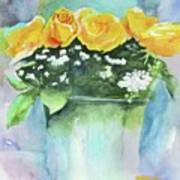 Roses Row Art Print